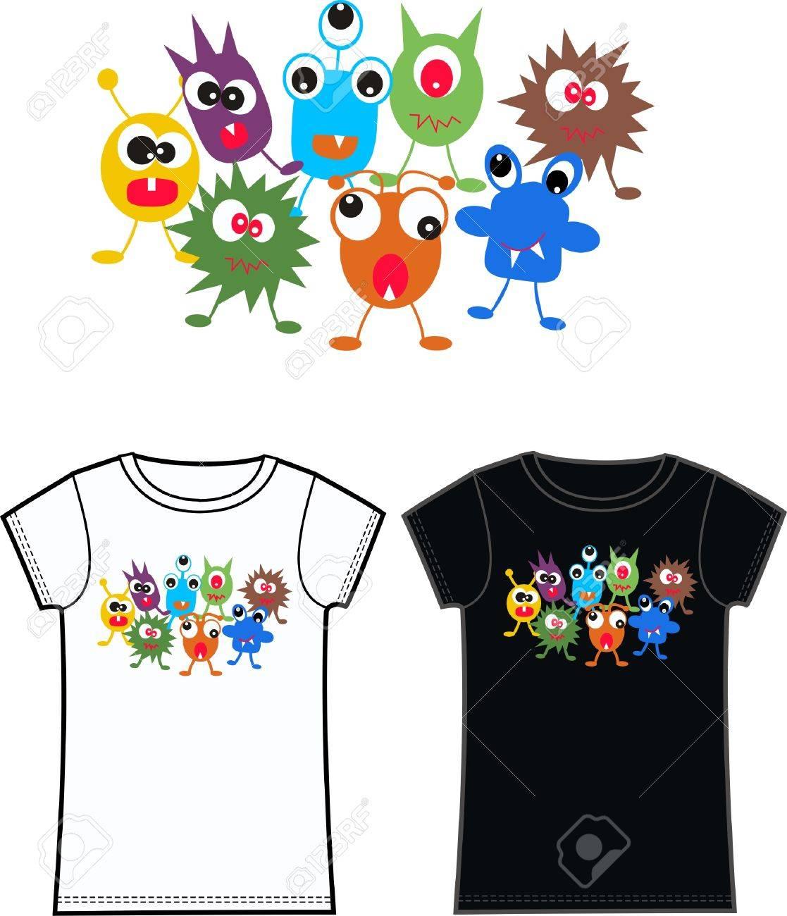 monster tshirts Stock Vector - 9029088