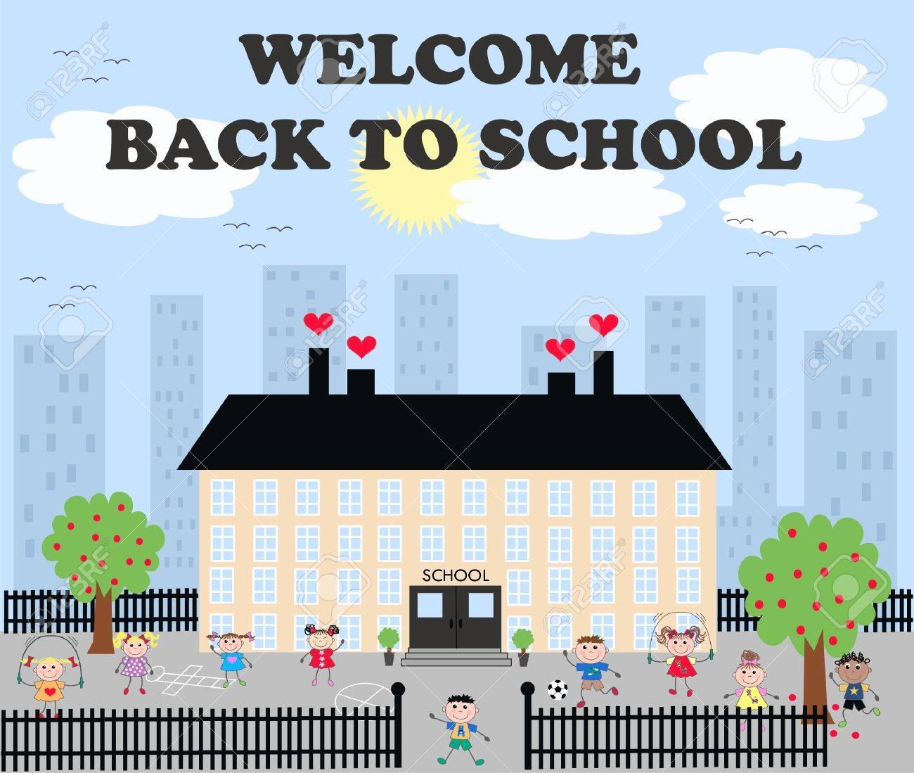 welcome back to school Stock Vector - 9381577