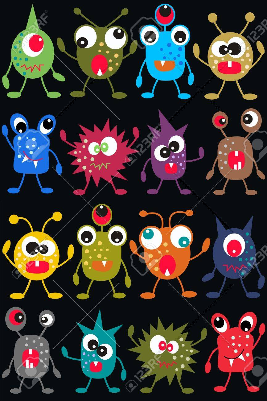seamless monster pattern Stock Vector - 9106180