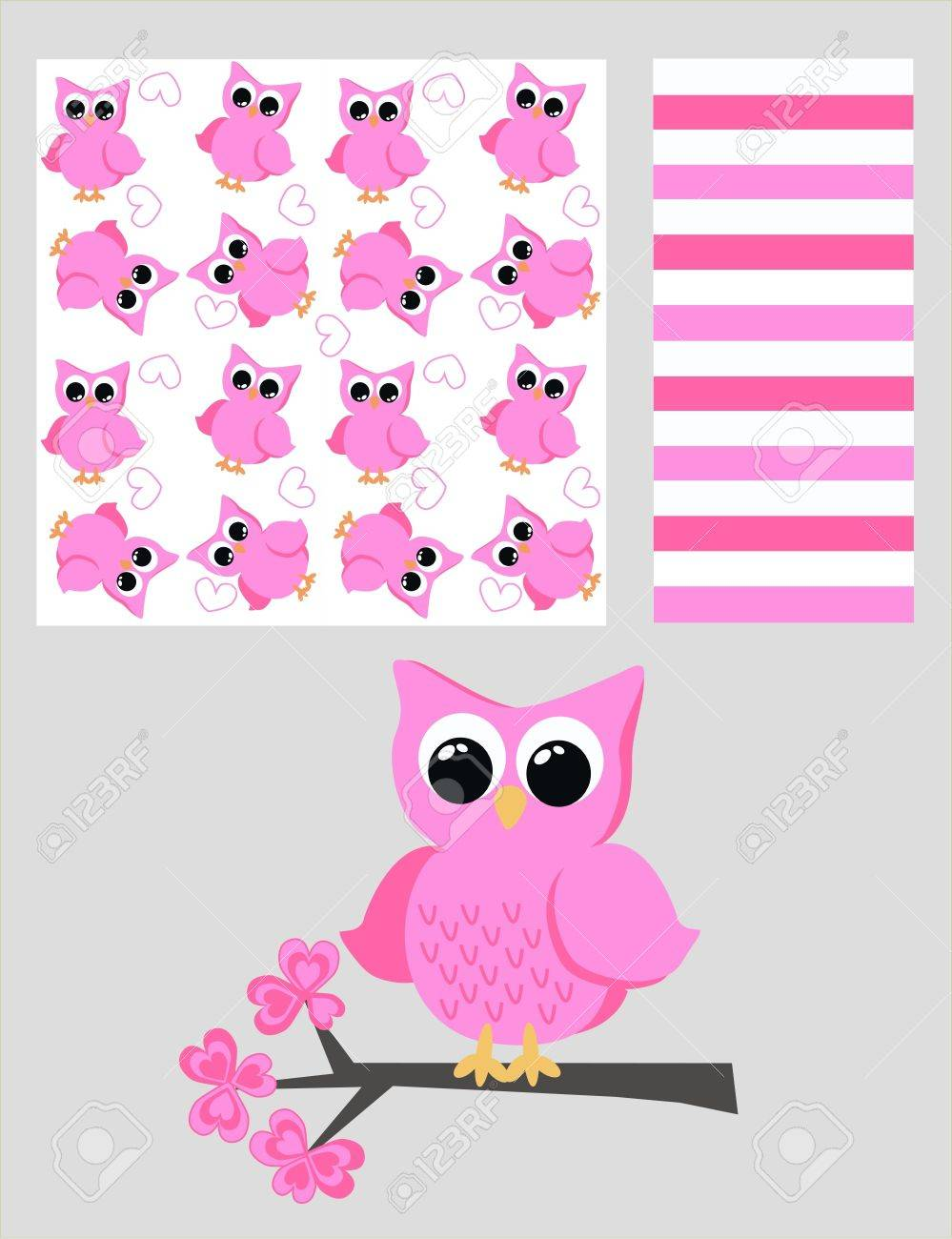 three different patterns Stock Vector - 9370627