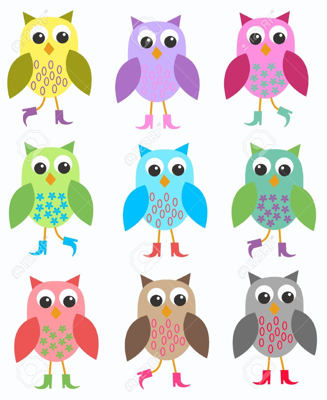 22 605 cute owl stock vector illustration and royalty free cute