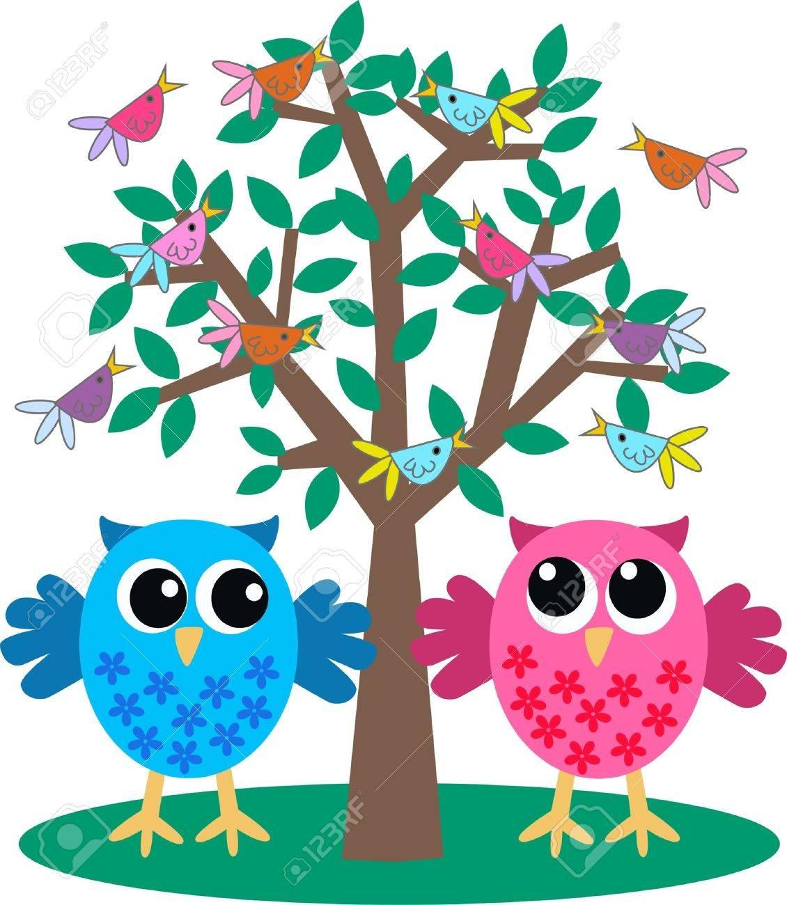 owls Stock Vector - 9959835