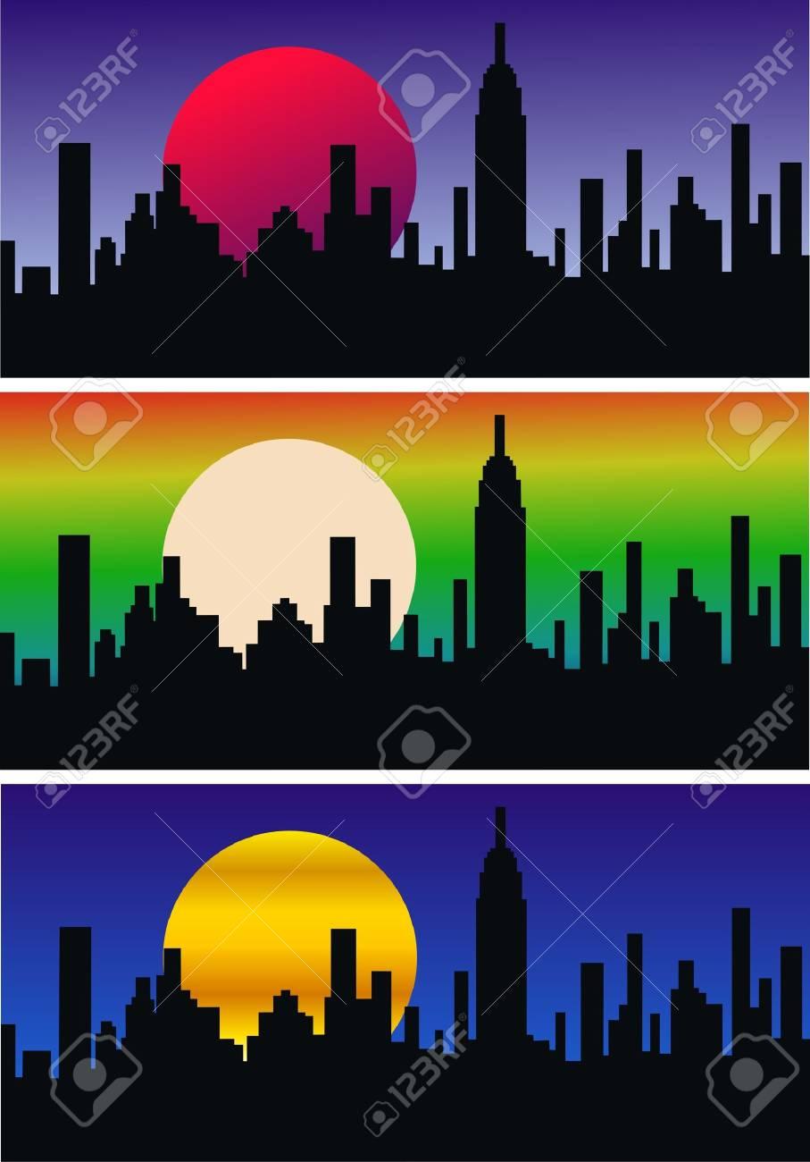 city skyline Stock Vector - 10204357