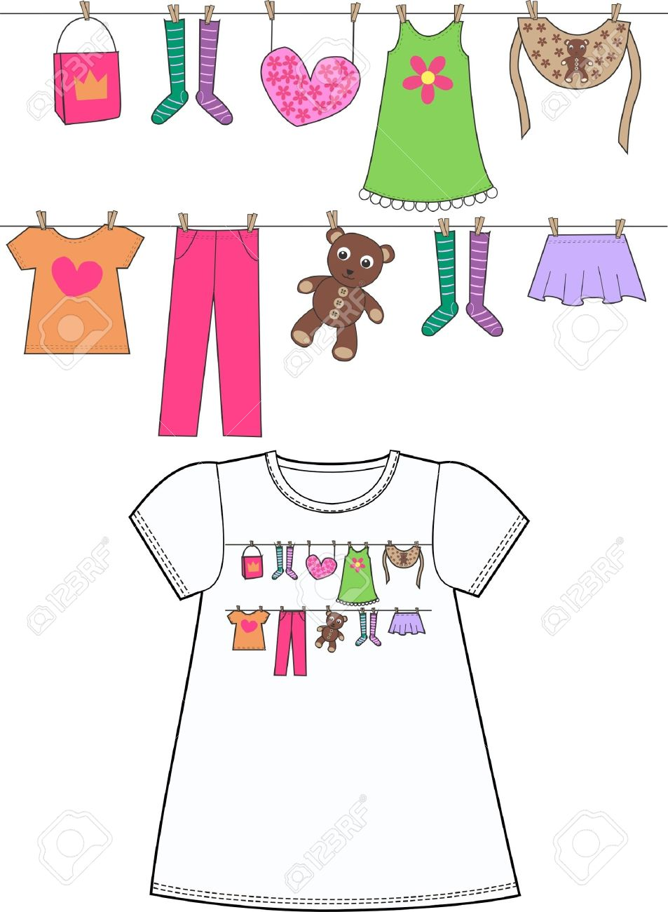 pattern for children clothes Stock Vector - 10303624