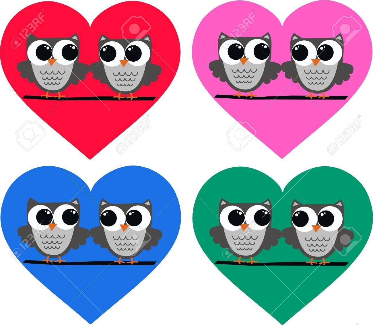 owl couples Stock Vector - 10800346