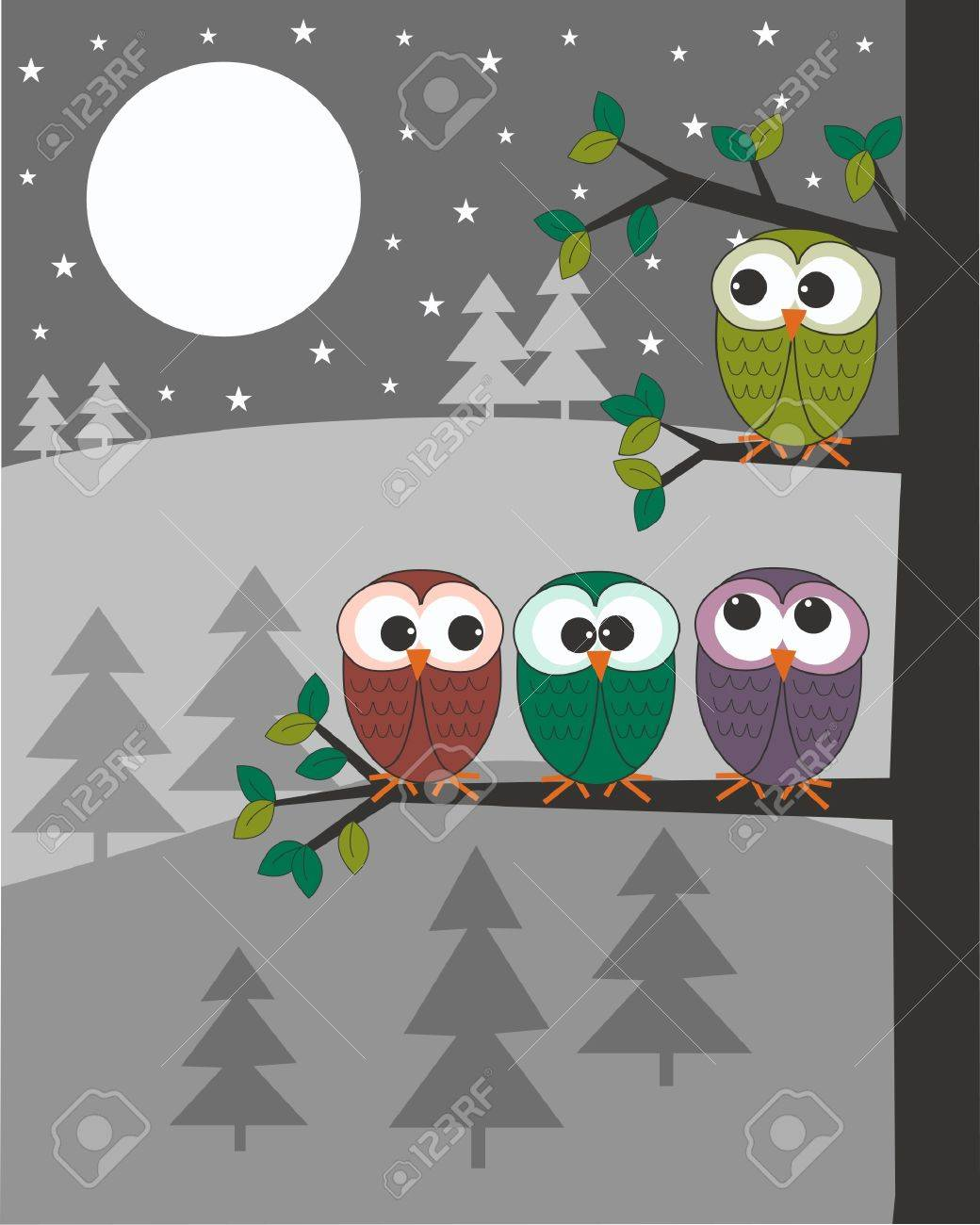 owls Stock Vector - 10990474