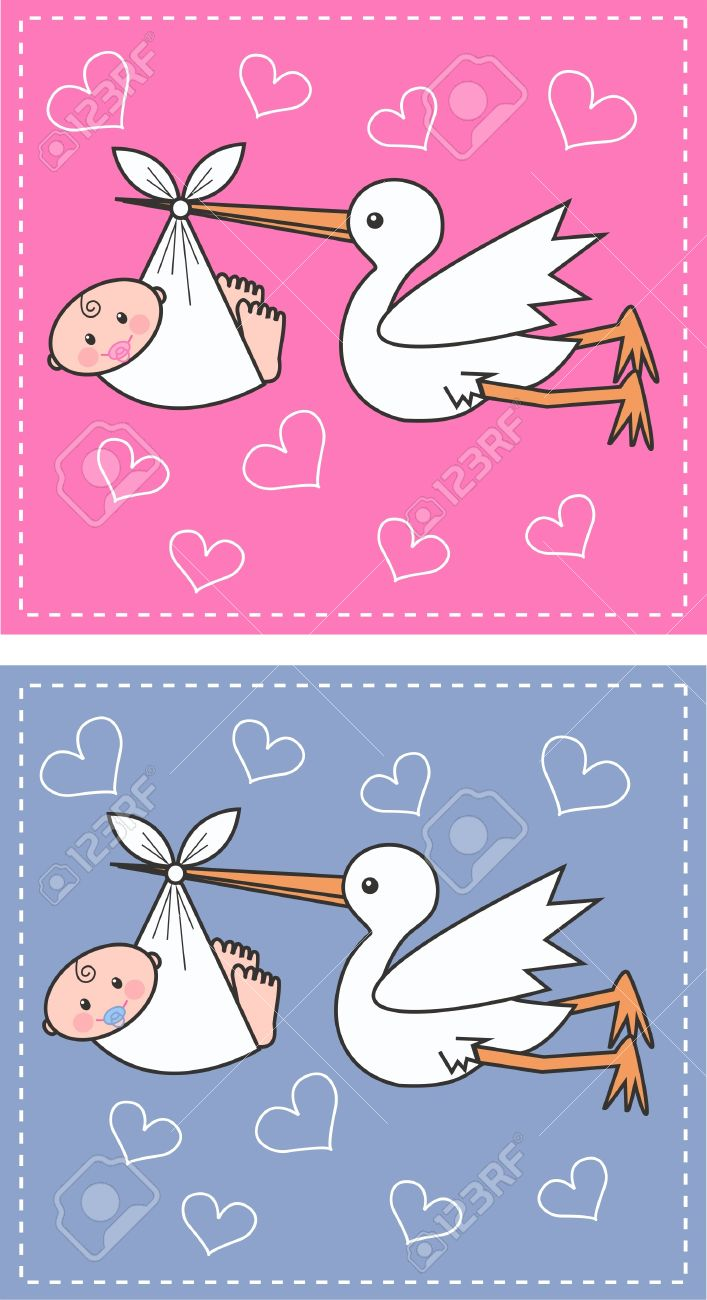 newborn baby boy and baby girl Stock Vector - 11528247