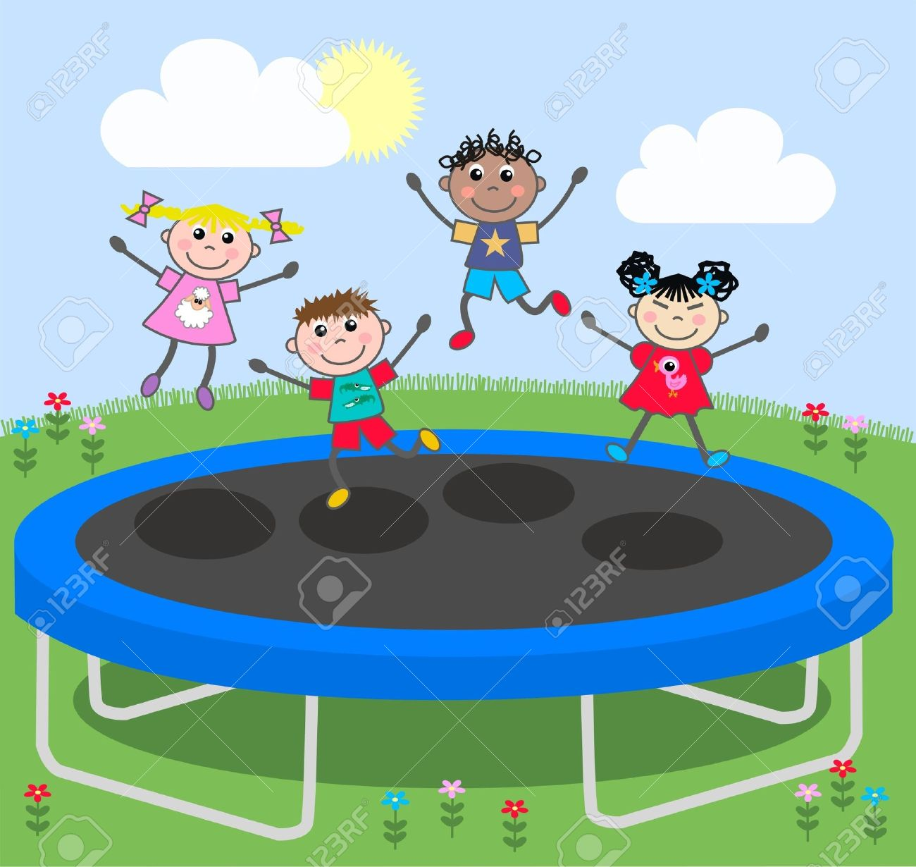 trampoline Stock Vector - 11662031