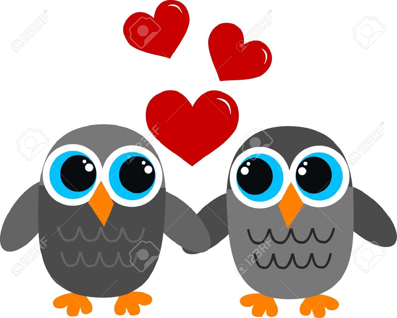 Valentines Day Owls Love Royalty Free Cliparts Vectors And Stock