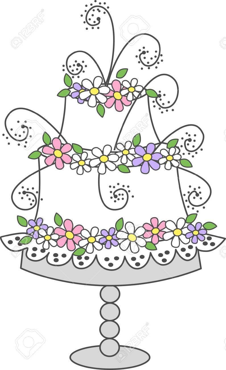 celebration cake Stock Vector - 12782701