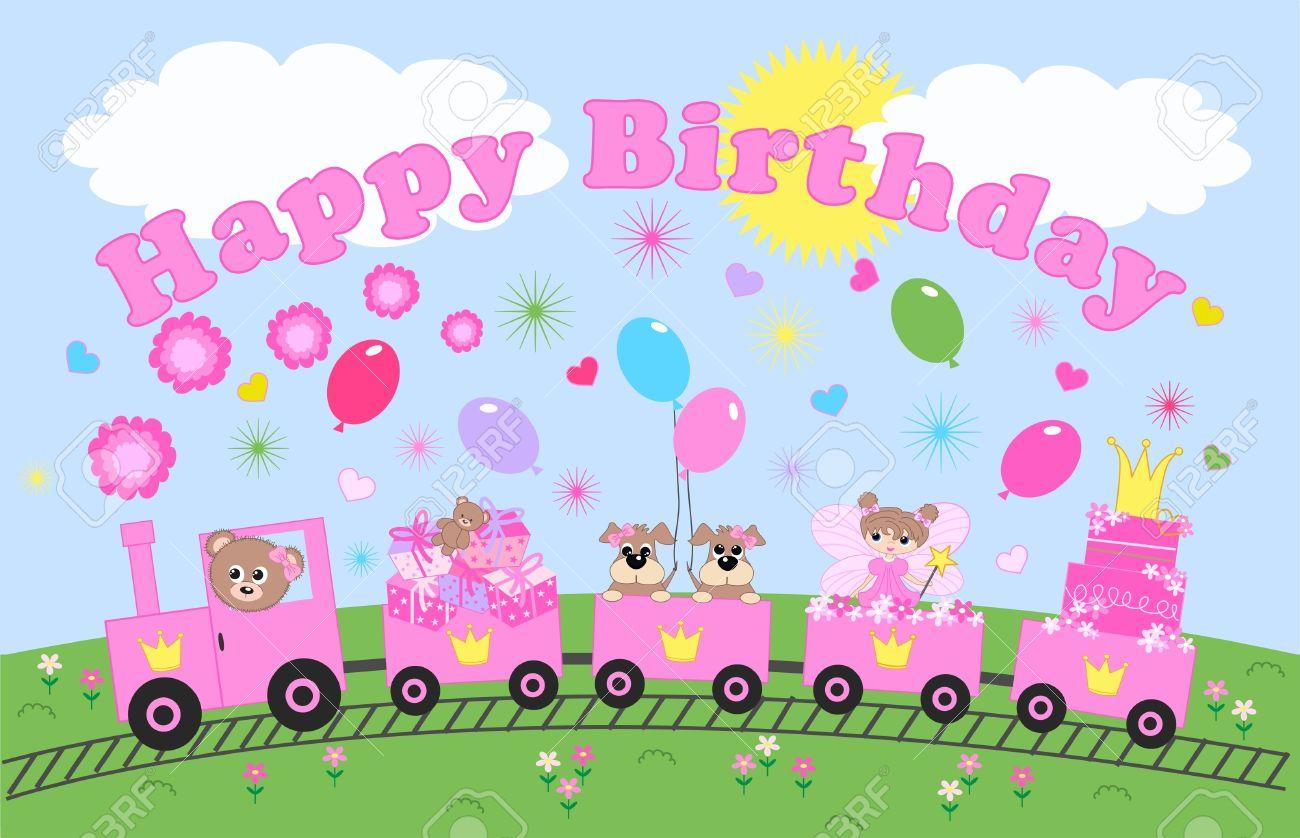 happy birthday celebration or invitation Stock Vector - 13081369