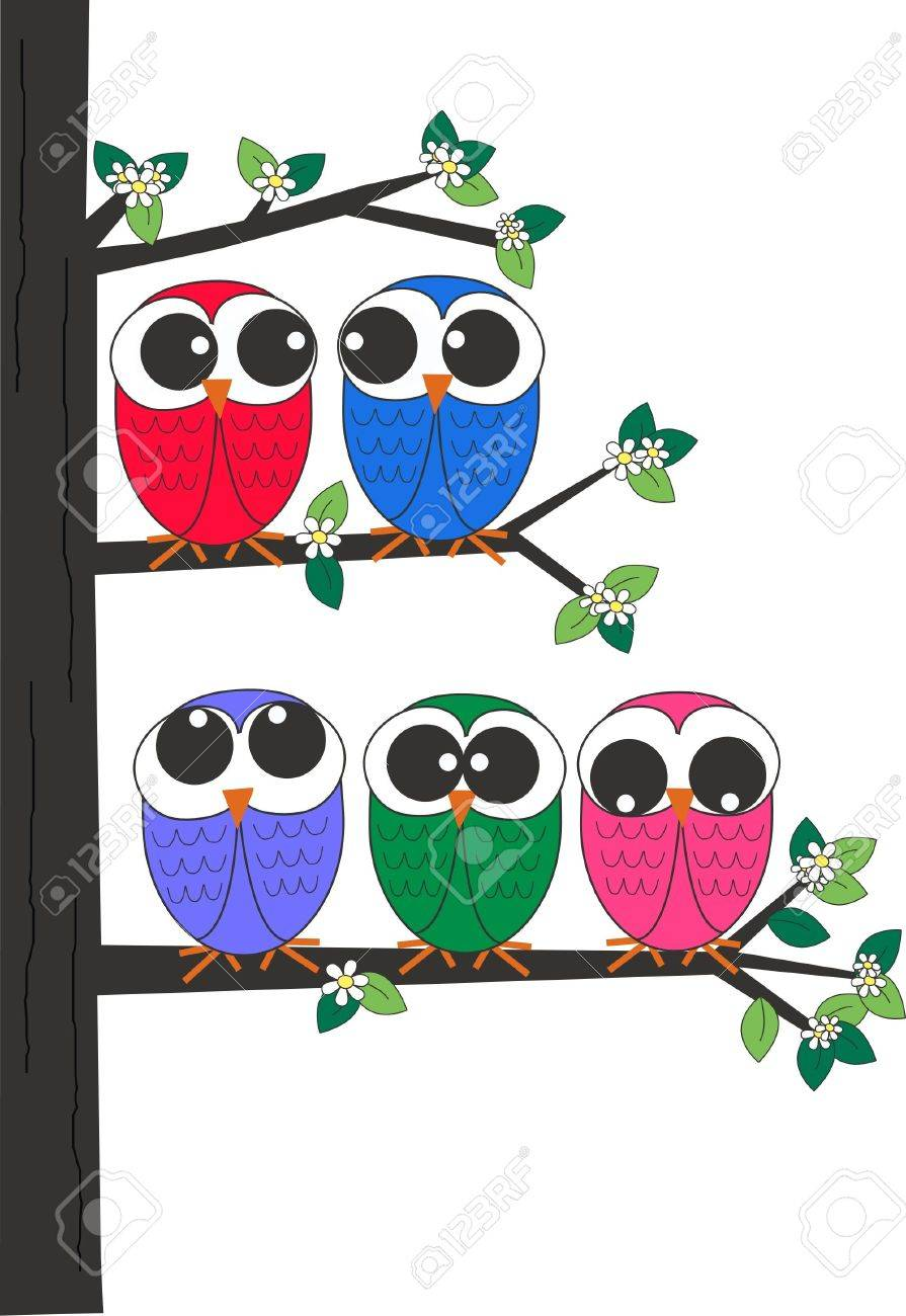 owls Stock Vector - 13310550