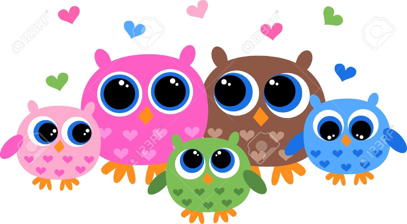 a sweet owl family royalty free cliparts vectors and stock