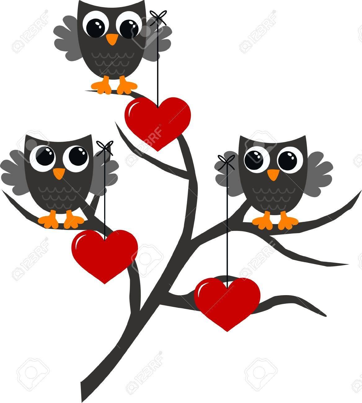 celebration love owls Stock Vector - 13625178