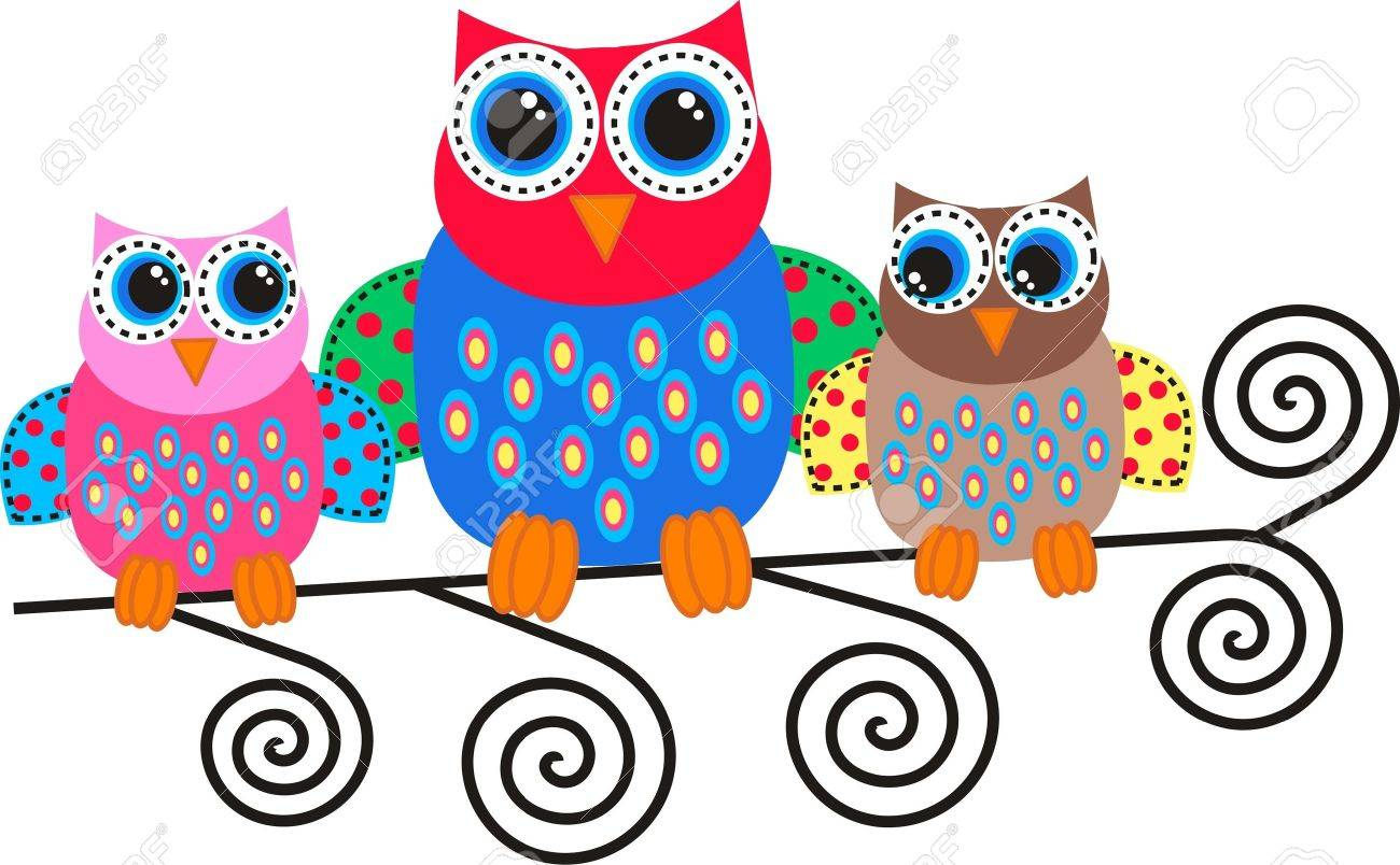 colorful owls royalty free cliparts vectors and stock