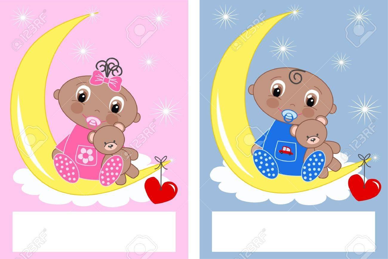 baby shower newborn babies Stock Vector - 13889472