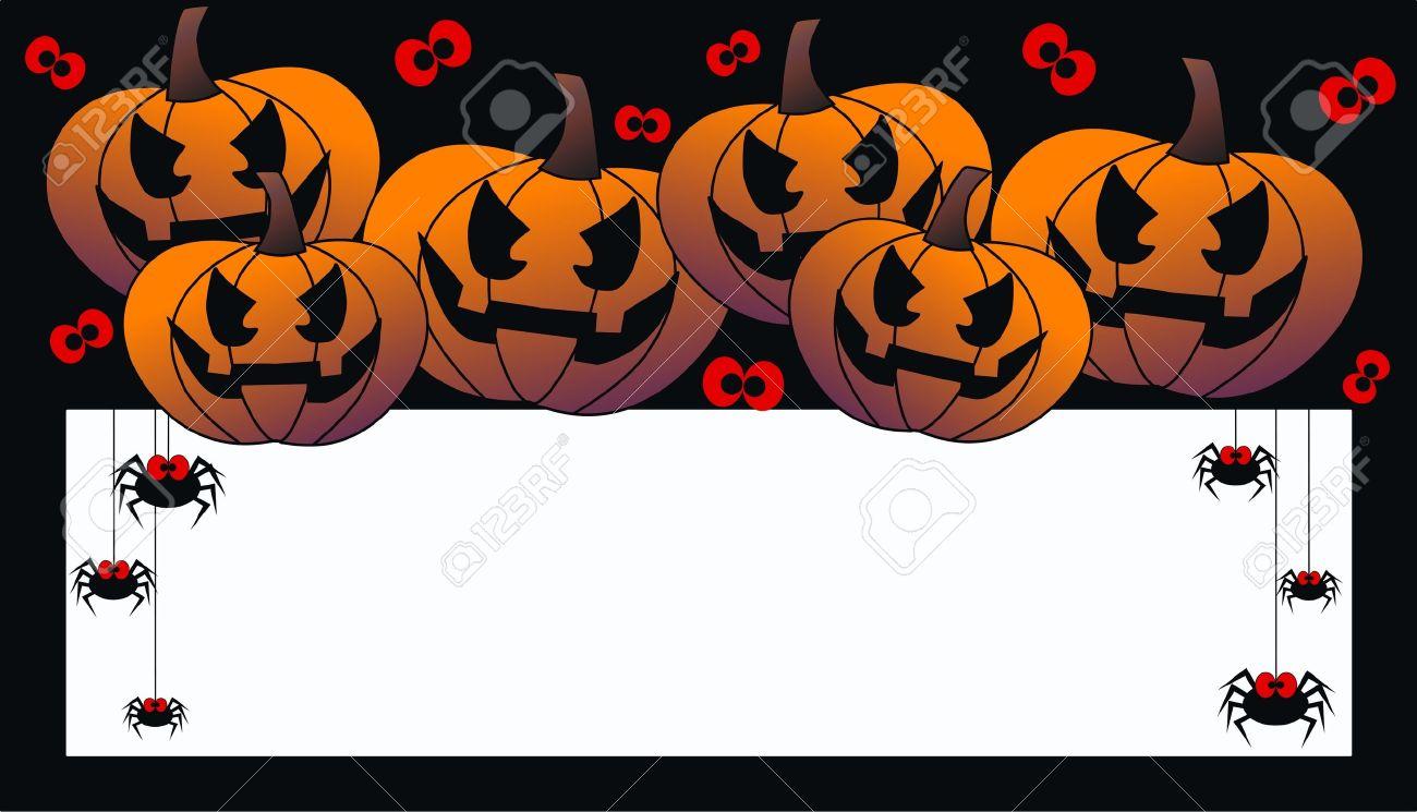 Happy Halloween Header Or Invitation Card Royalty Free Cliparts ...