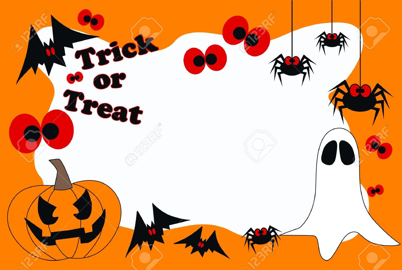 happy halloween trick or treat stock vector 15854633 - Happy Halloween Pics Free