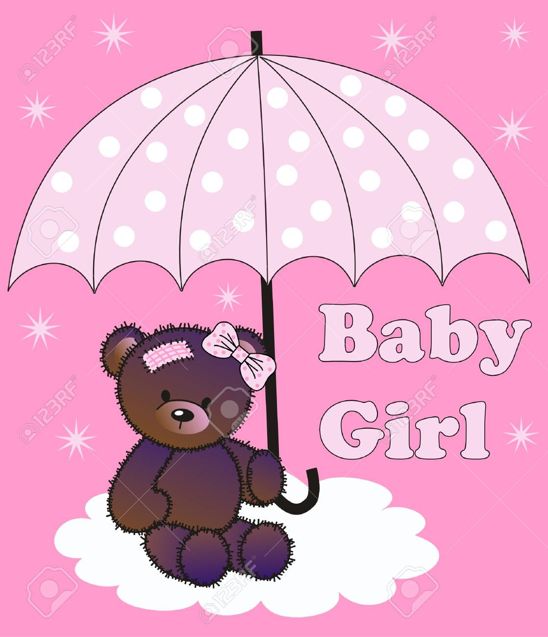 baby shower girl Stock Vector - 16227358