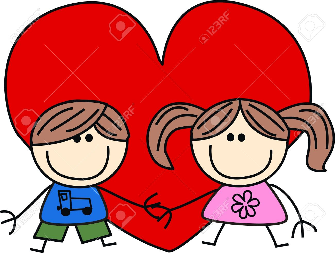 Día De San Valentín Amor Amistad Ilustraciones Vectoriales Clip Art