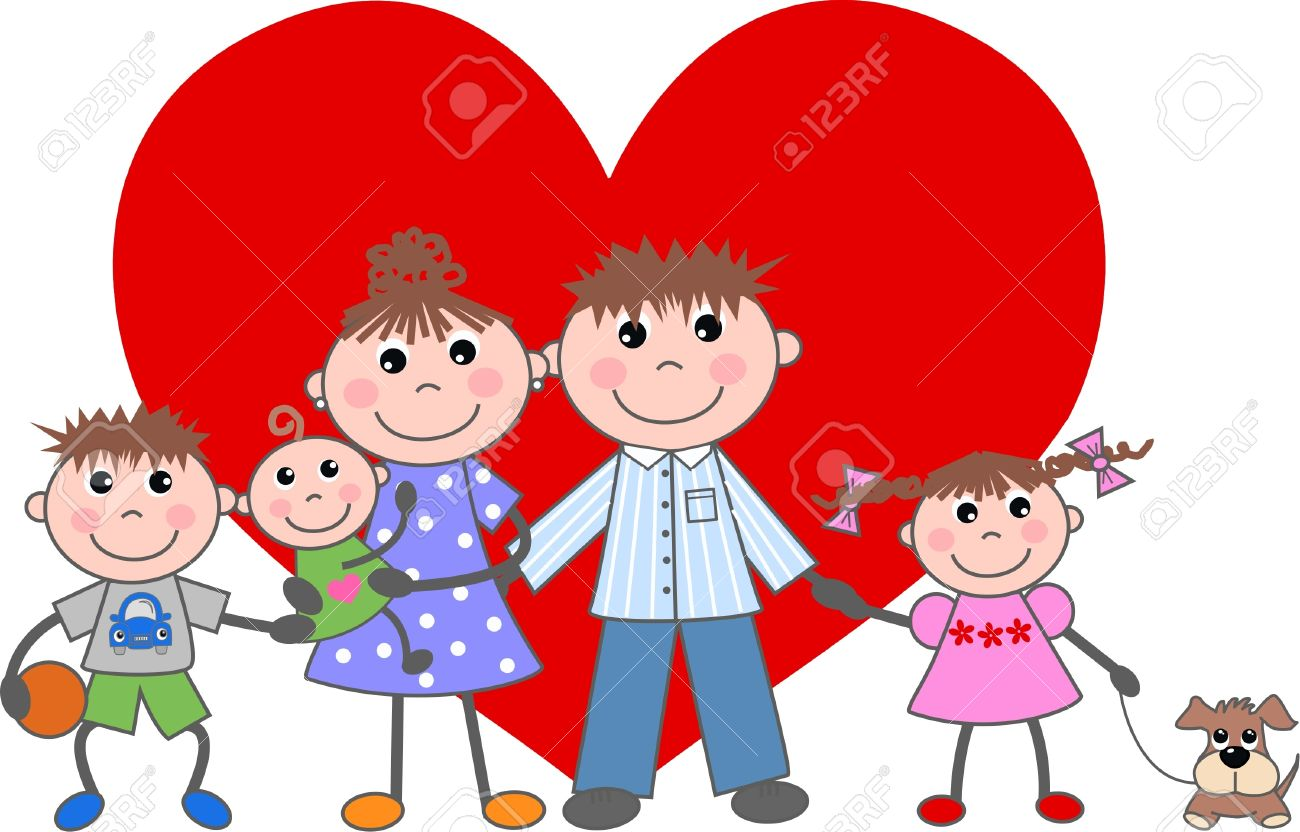 valentines day love family together royalty free cliparts vectors