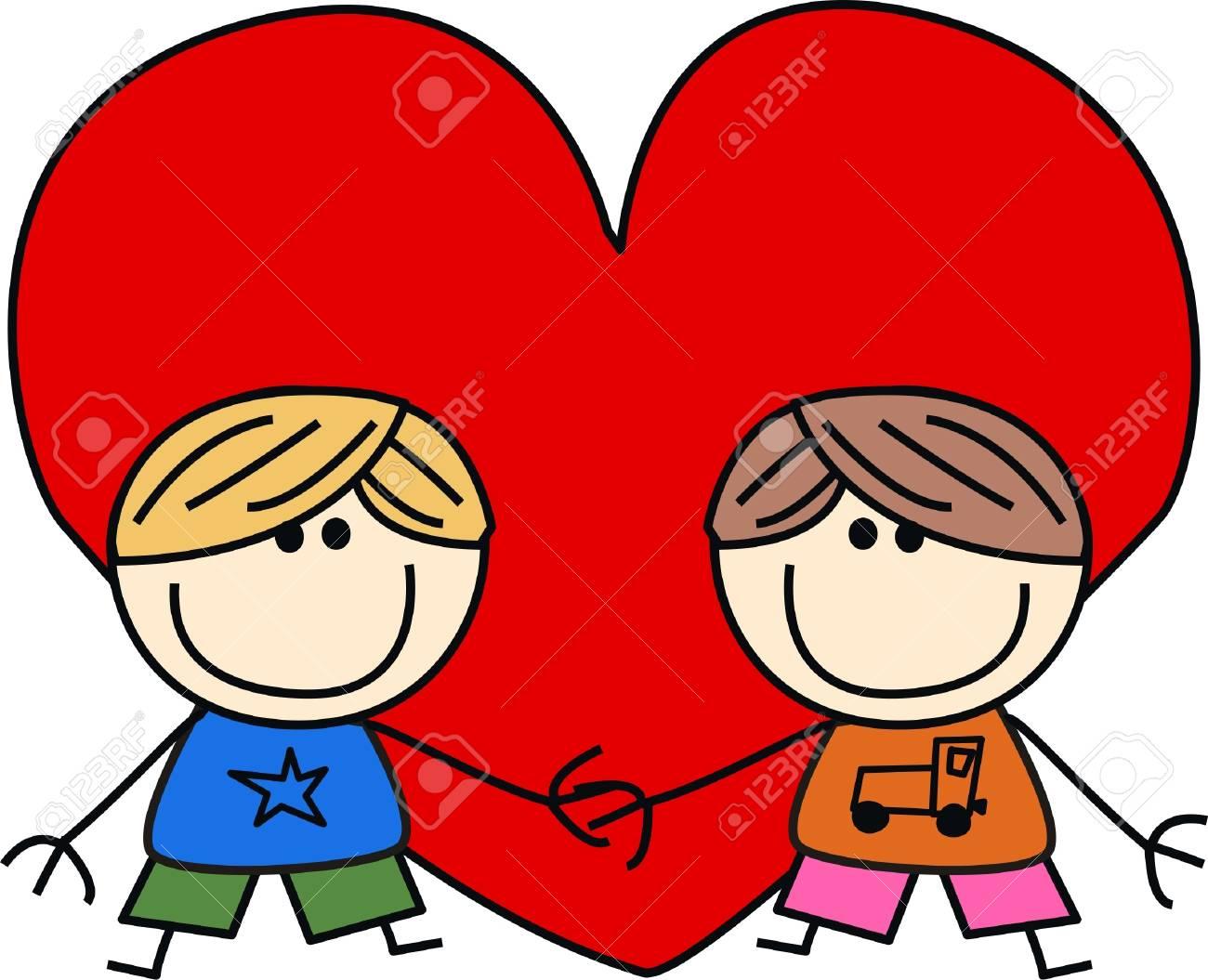 valentines day love friendship Stock Vector - 17074418