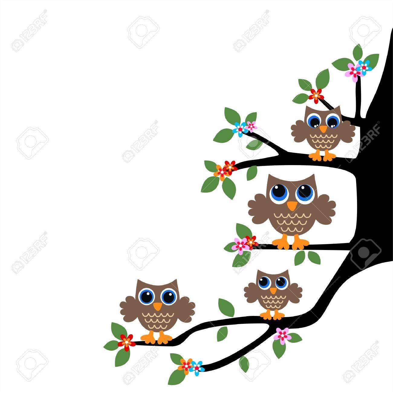 owl family or team Stock Vector - 20195287