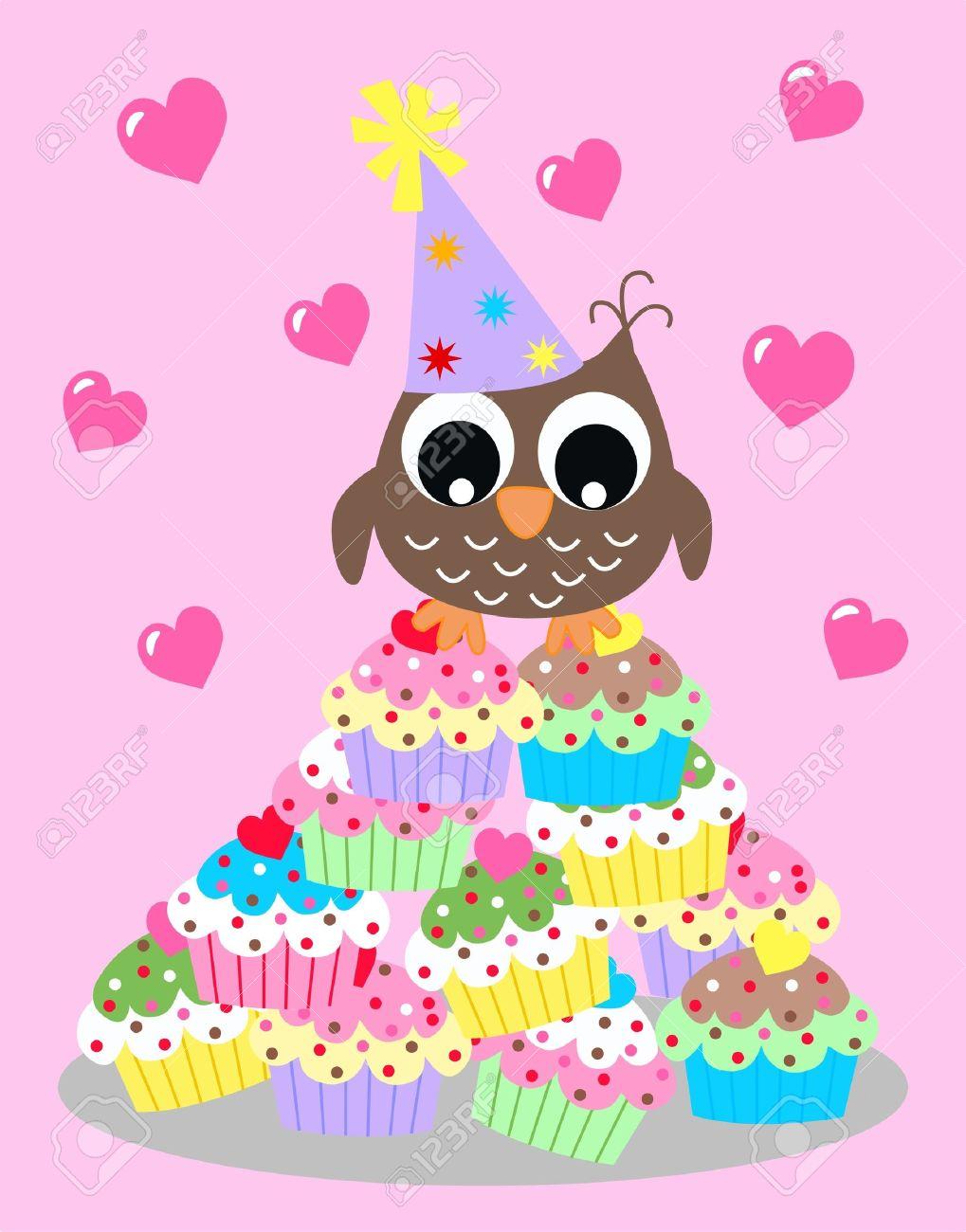 Happy birthday or baby shower owl royalty free cliparts vectors happy birthday or baby shower owl stock vector 21762135 stopboris Choice Image