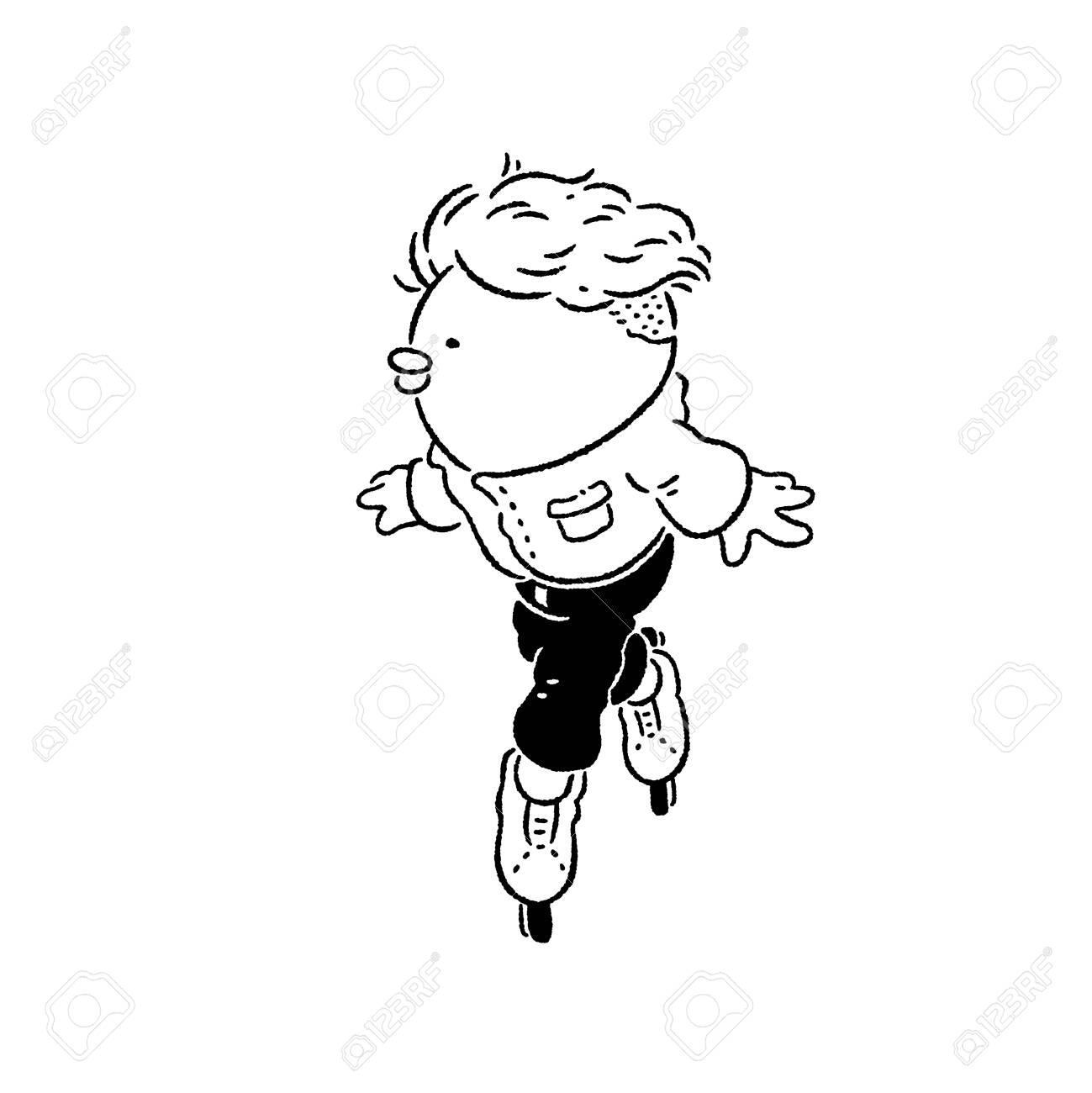 Boy ice skating - 128854662