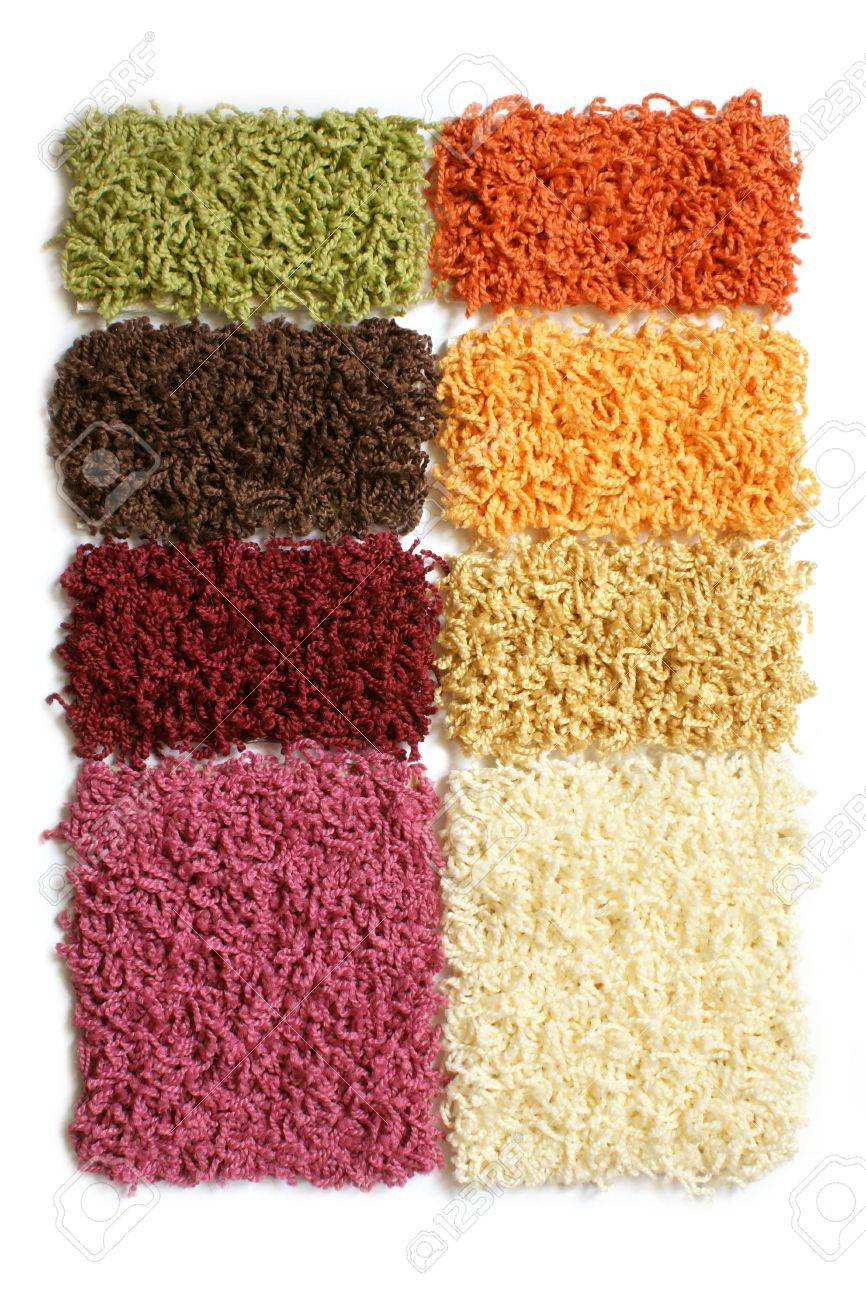 Samples of collection carpet on a white background Stock Photo - 7022287