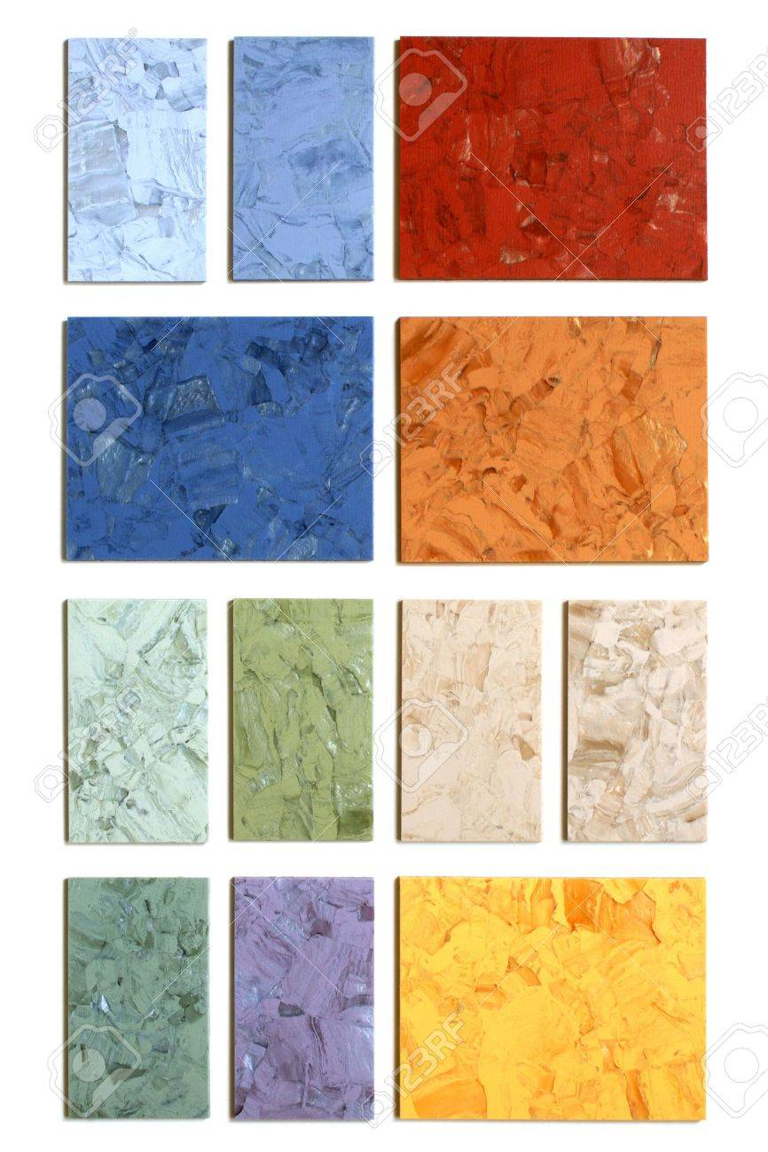 The samples of collection natural linoleum on the white background Stock Photo - 7429496