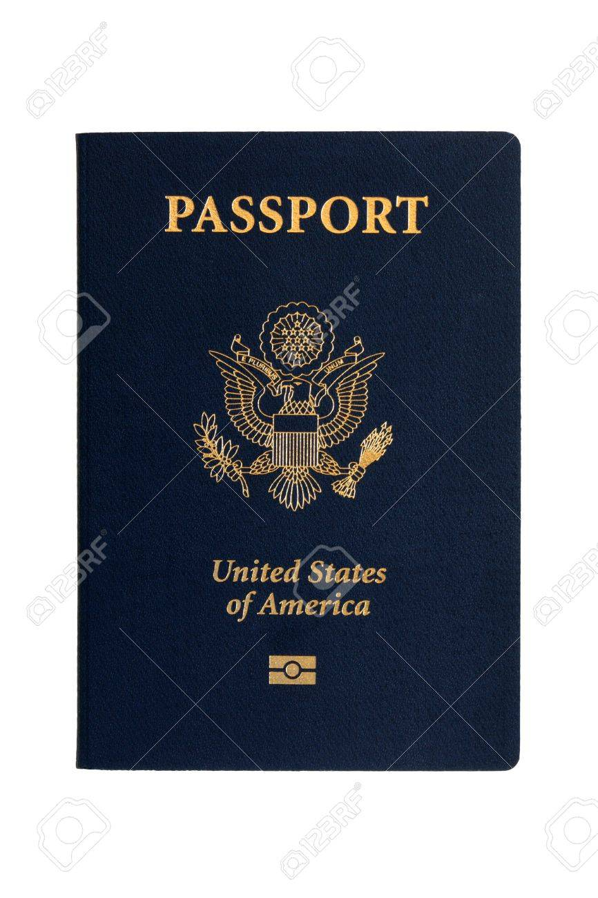 American passports on a white background Stock Photo - 7429507