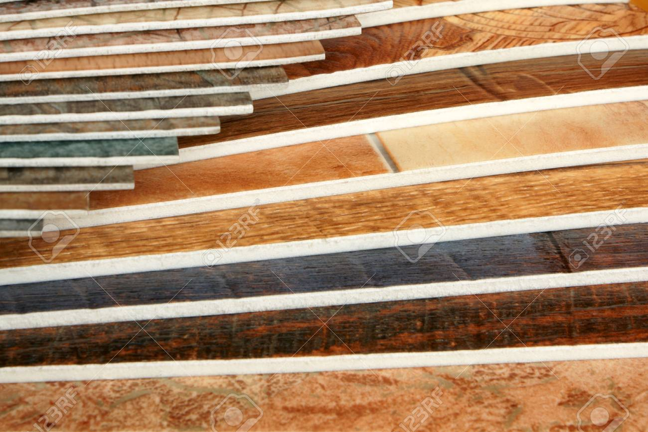 The samples of collection natural linoleum Stock Photo - 7484064