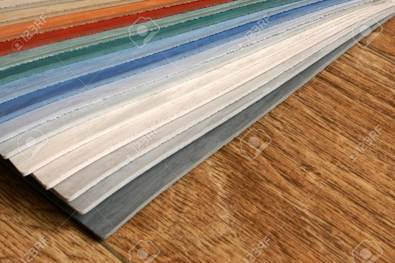 The samples of collection natural linoleum Stock Photo - 7752297