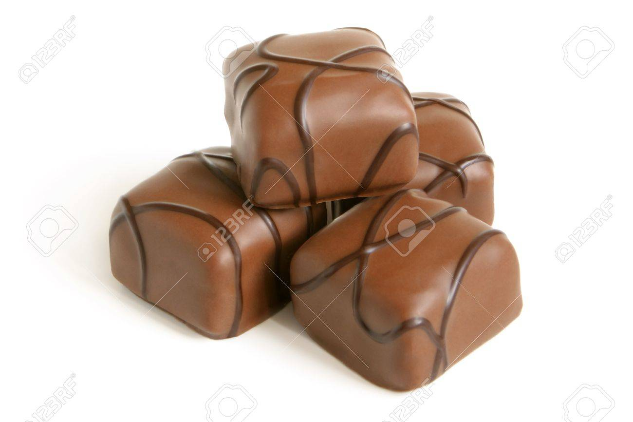 Chocolate sweets on a white background Stock Photo - 9317929