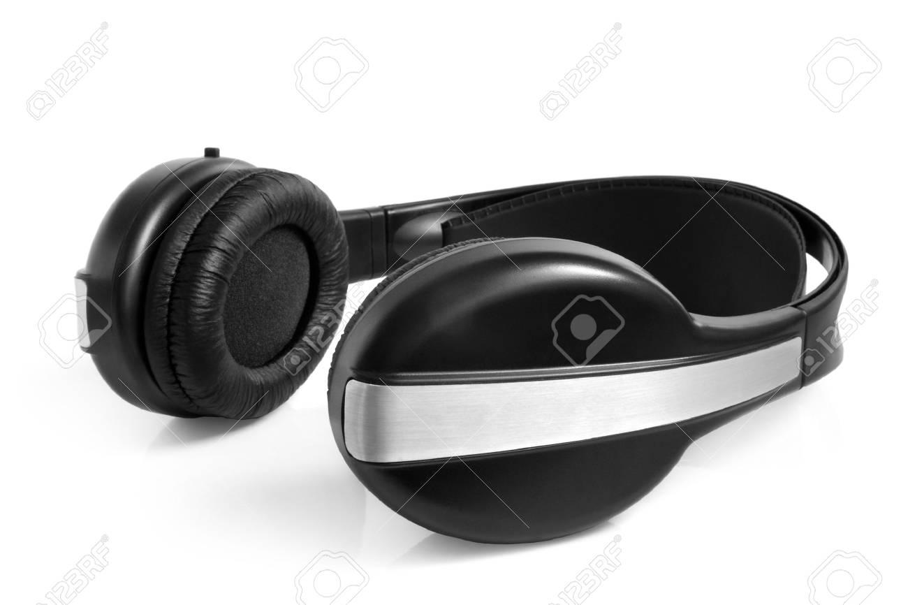 Earphones on the white background Stock Photo - 11686590