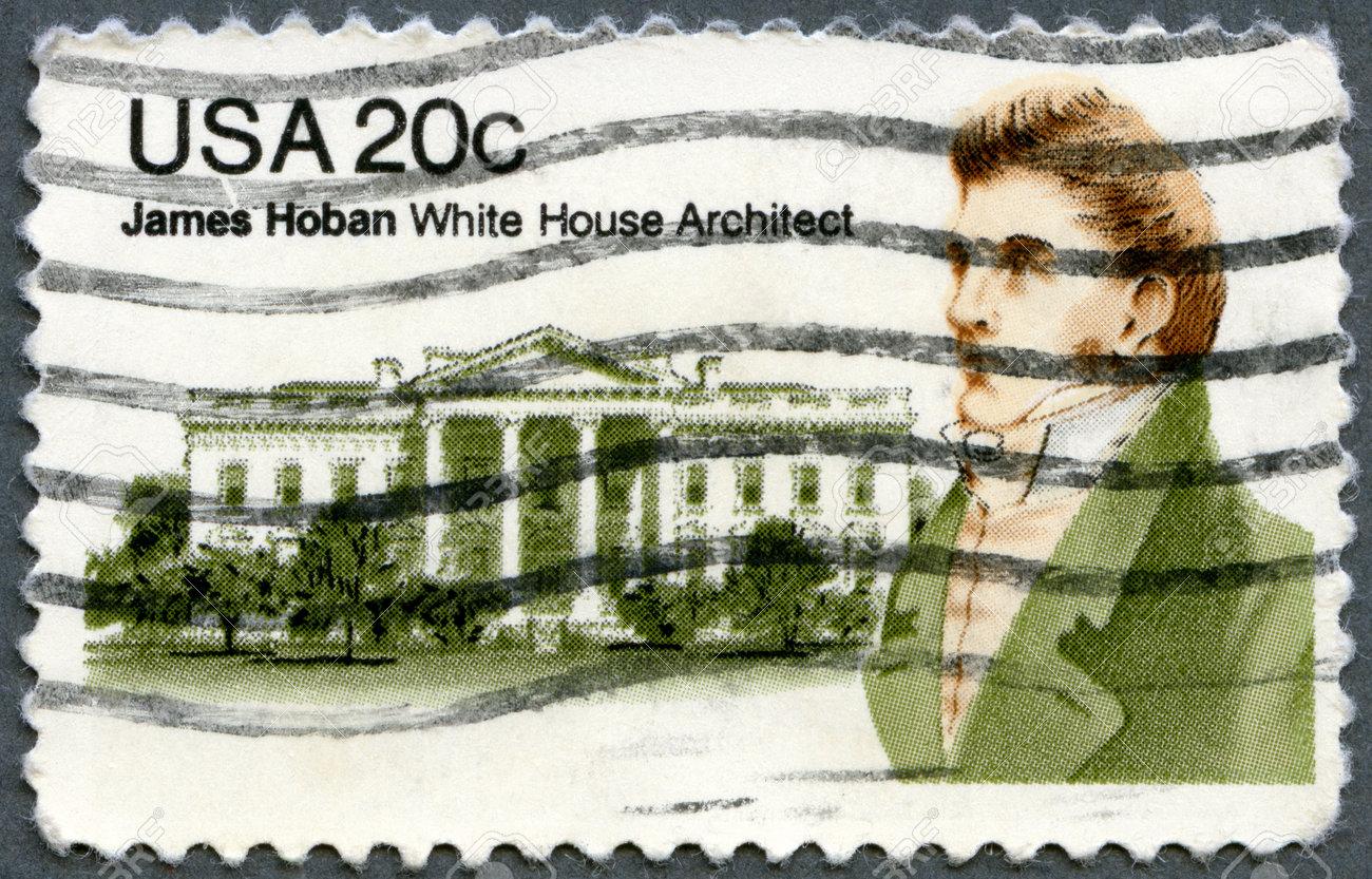 UNITED STATES - CIRCA 1981: A stamp printed in USA shows James Hoban (1758-1831), Irish-American Architect of White House, circa 1981 Stock Photo - 15156872
