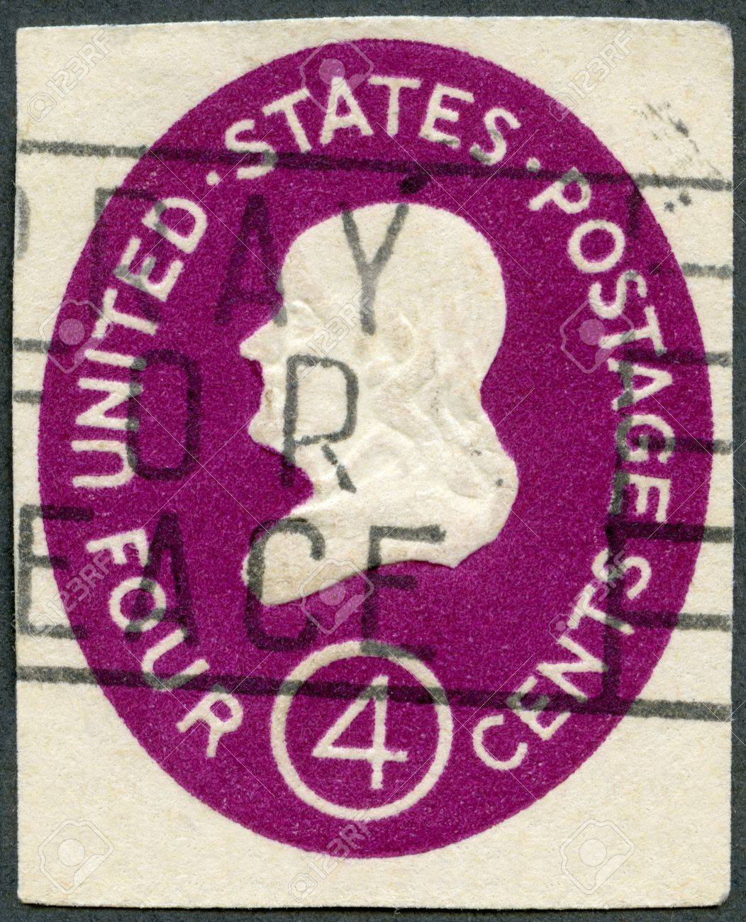 USA - CIRCA 1952: A stamp printed in USA shows President Benjamin Franklin, circa 1952 Stock Photo - 15509348