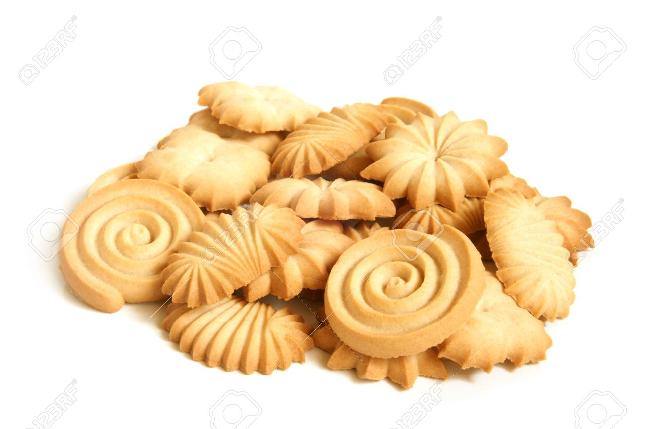 Sugar cookies on a white background Stock Photo - 15863155