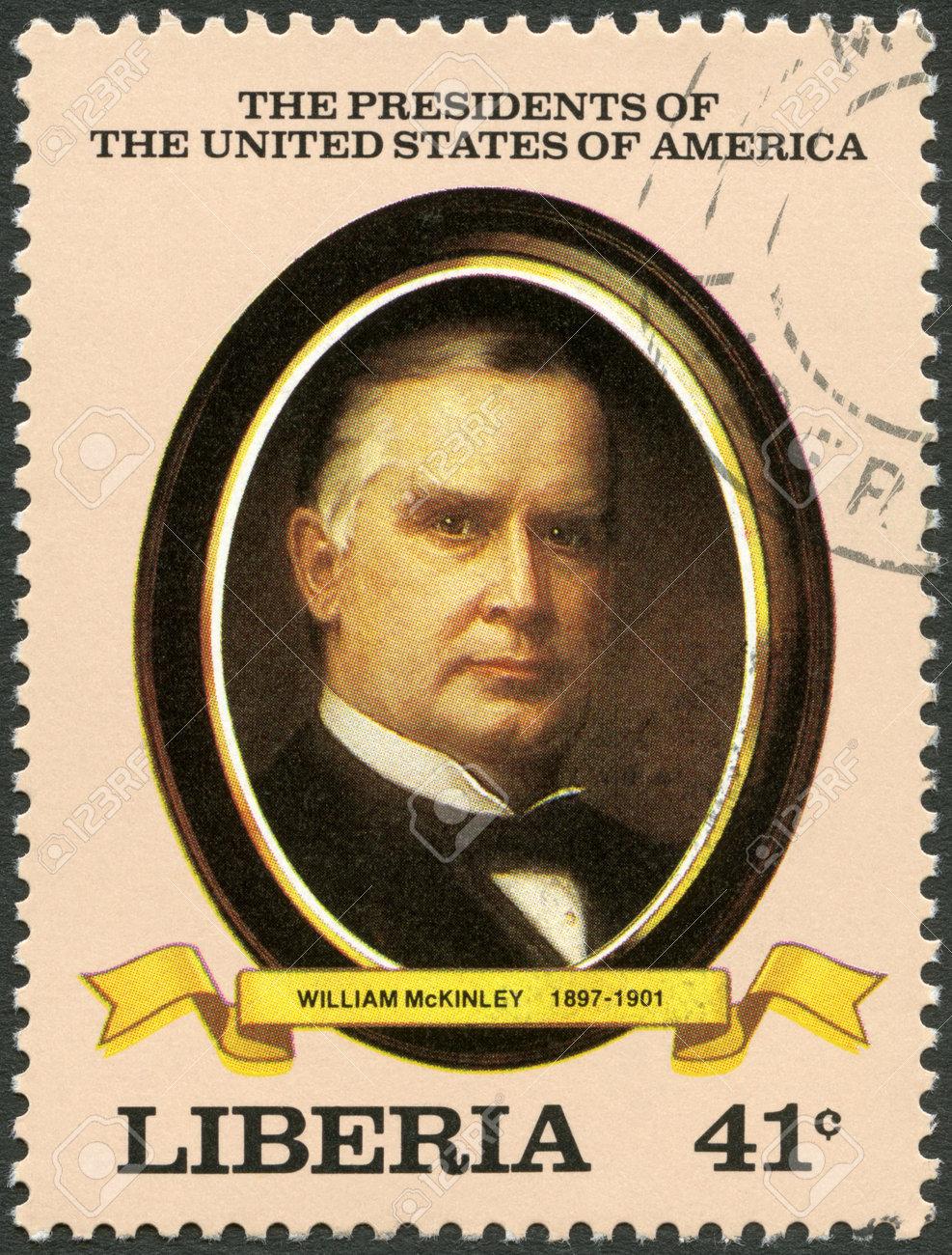 リベリア - 1982 年頃: リベリア大統領ウィリアム マッキンリー (1897 ...