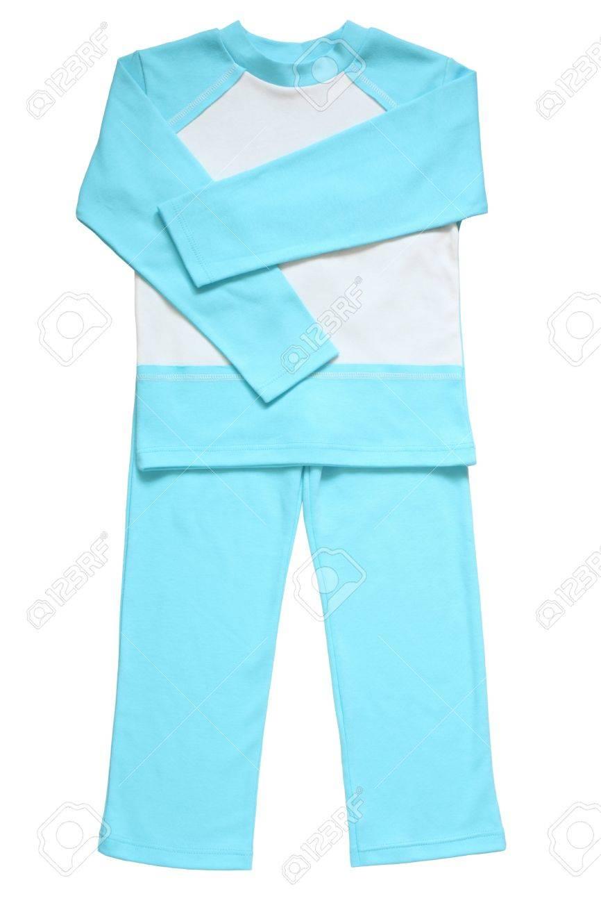 20bb6d0c4c Foto de archivo - Pijamas para niños aislados en un fondo blanco
