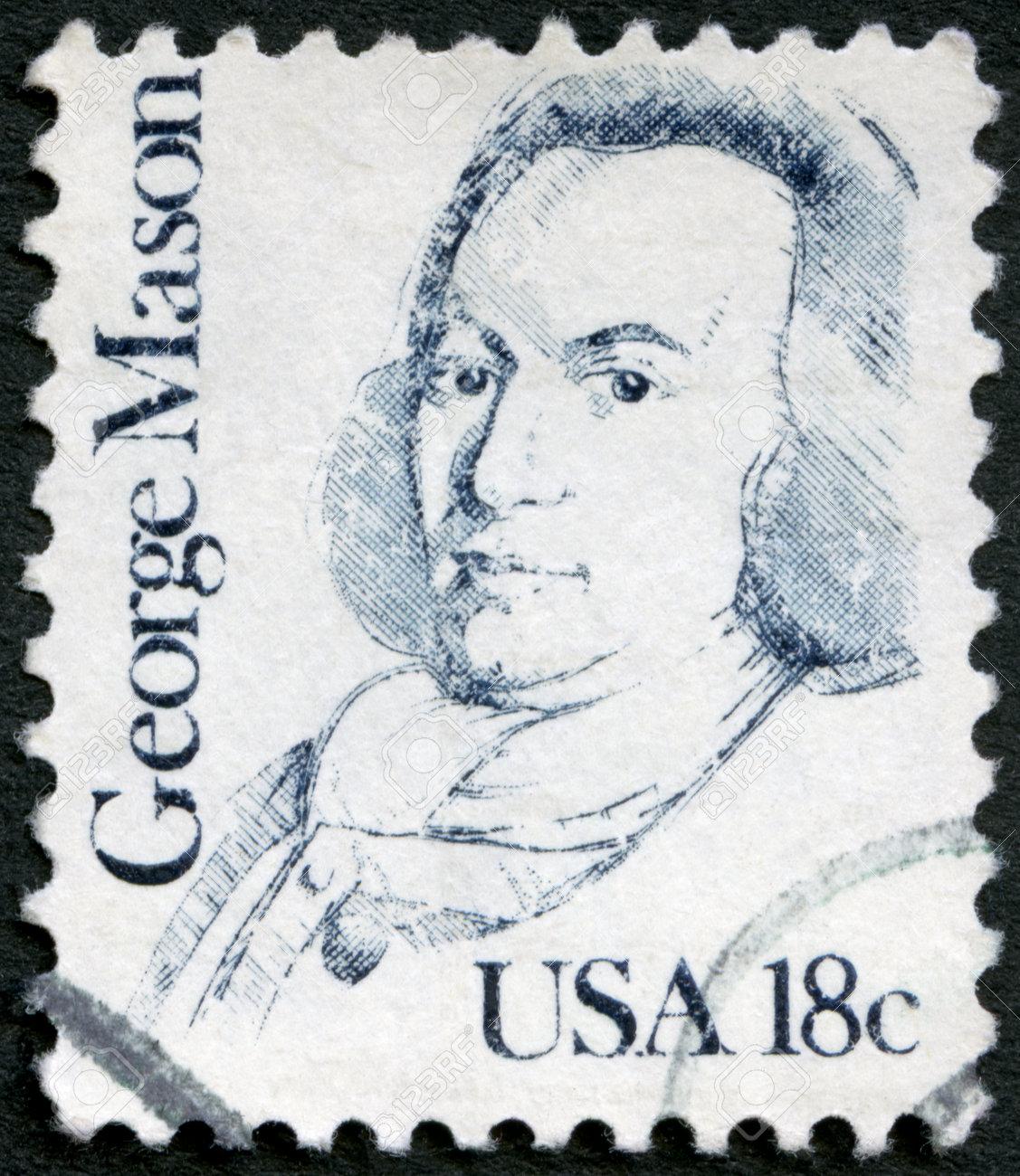 USA - CIRCA 1981: A stamp printed in USA shows portrait of George Mason (1725-1792), circa 1981 Stock Photo - 18928503
