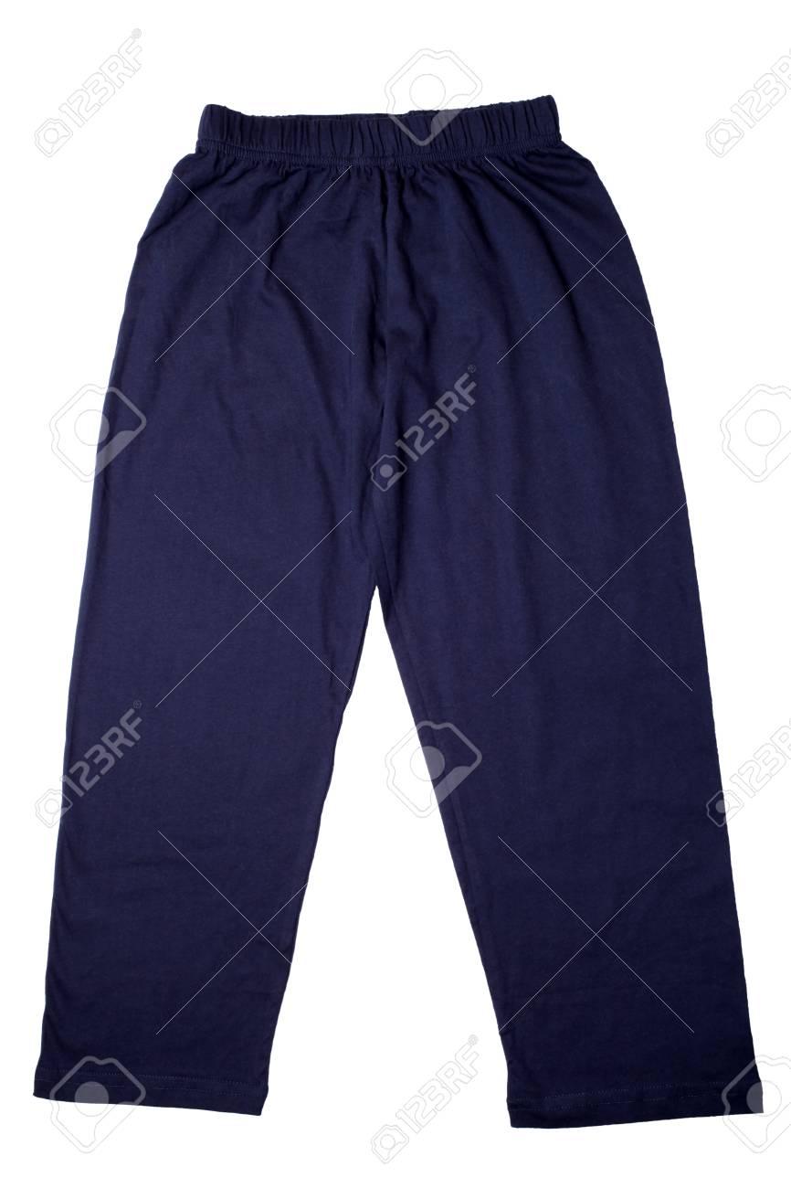 283e8804ed Foto de archivo - Pijamas de los pantalones de los niños aislados en un fondo  blanco