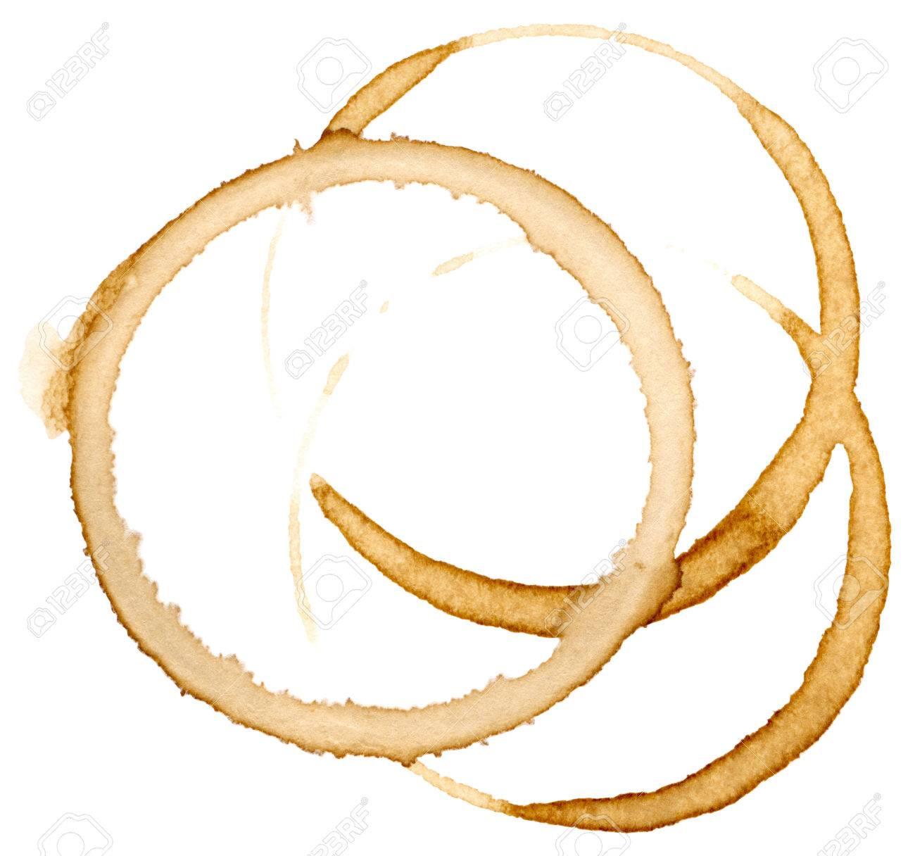 Coffee mug mark isolated on white background Stock Photo - 27608158
