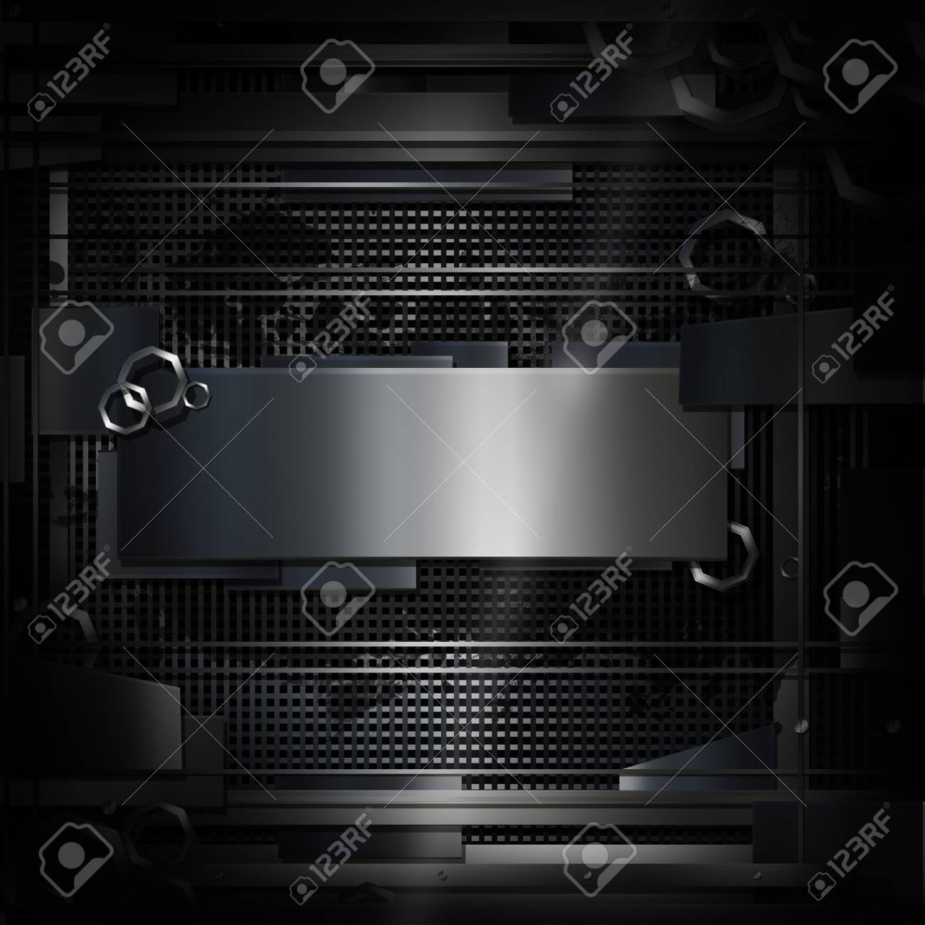 Industrial Style Dark Metal Background Stock Photo