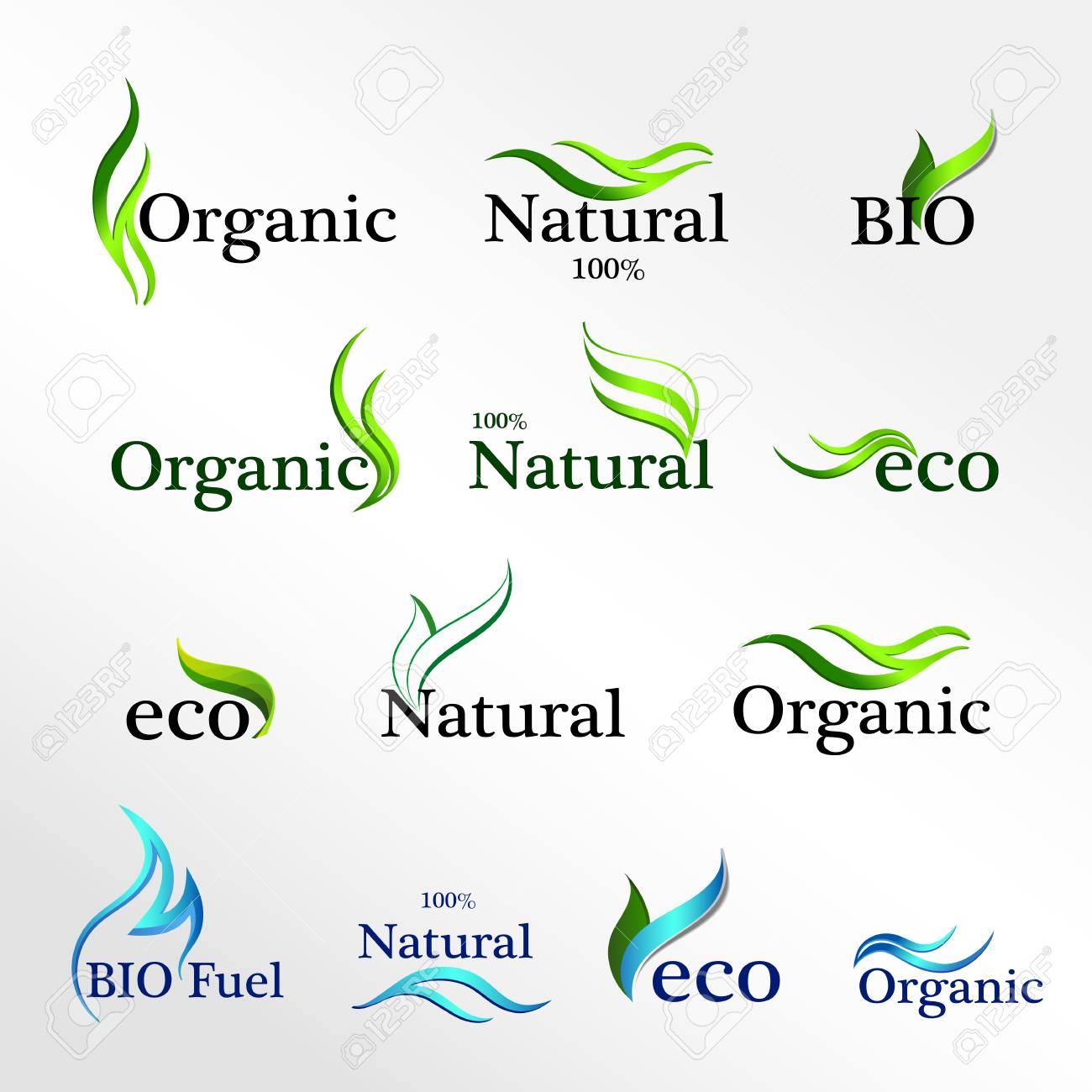 Conjunto Logotipos Eco, Elementos De Plantilla De Diseño, Icono ...