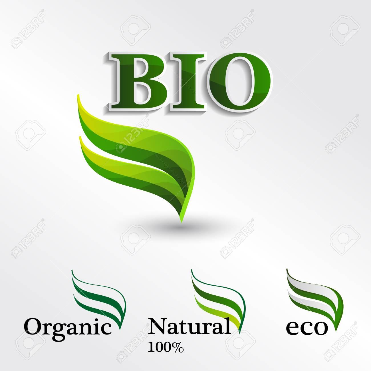 Establecer Eco, Elementos De Plantilla De Diseño, Icono De Bio ...