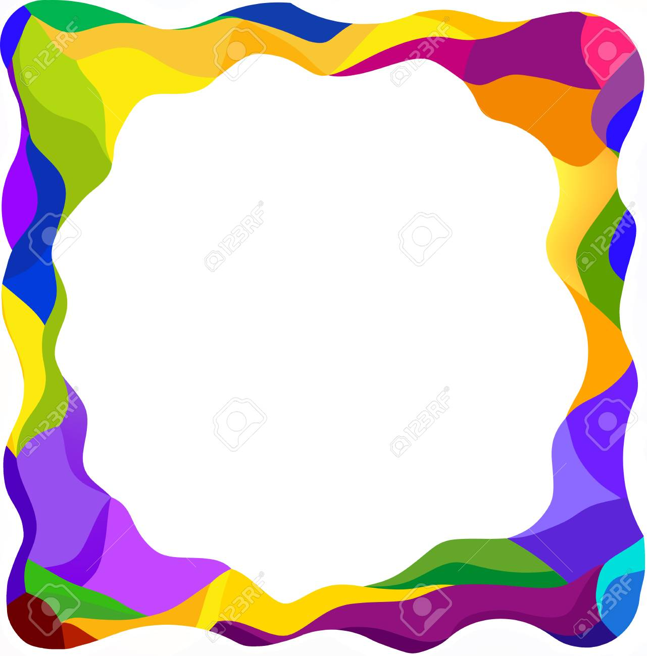 Attirant Colorful Frame Blank Background Design Concept Stock Photo   74361897