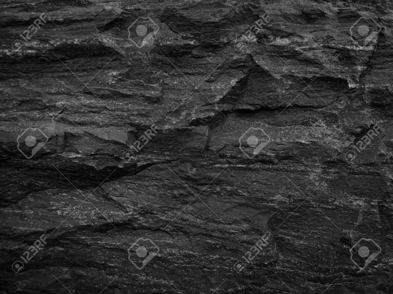 . Close up rocks  Dark Stone texture  Black rock