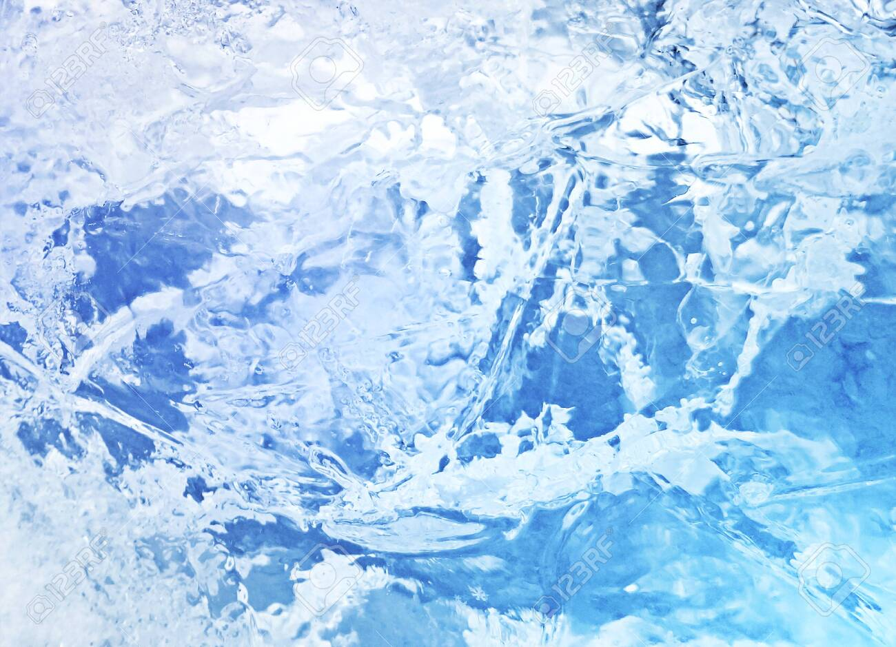 Abstract ice texture. Blue ice, arctic ice background. - 139398679